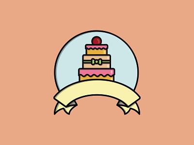 Cake bakery cake shop desert cake logo vector illustration graphicdesign flatdesign flat