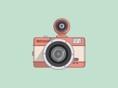 Camera Lomo Fisheye 2 photography retro vintage photo camera fisheye lomography illustration vector graphicdesign flatdesign flat