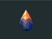 Polygon Drop Sunset