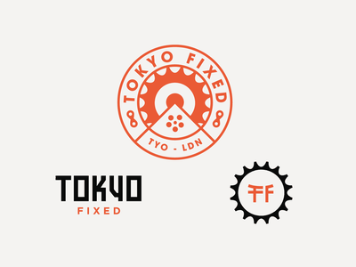 Tokyo Fixed Cycles - Badge and logo designs branding logo mountain custombadge cog gear cycle badge tokyo badge badge badgedesign tokyo cycling