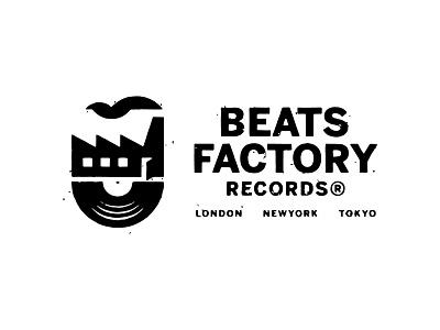 Beats Factory Records - Logo Design typography logomark logo designer branding music record distressed logodesign logo factory records record label