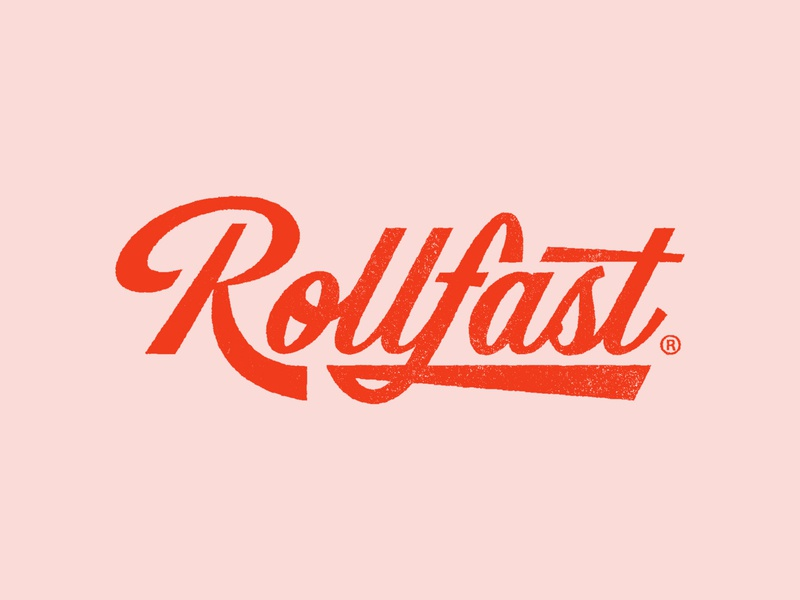 Rollfast 03 - full logotype graphic design lettering logo vintage cycling logo cycle brand lettering logo typography logomark logo designer branding