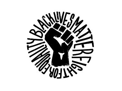 Black Lives Matter graphic design typography logomark lettering logo blacklivesmatter
