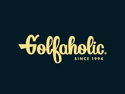 Golfaholic full logotype - #01 brand identity lettering art golfing lettering golf brand golf simple logos typography logo logomark logo designer branding
