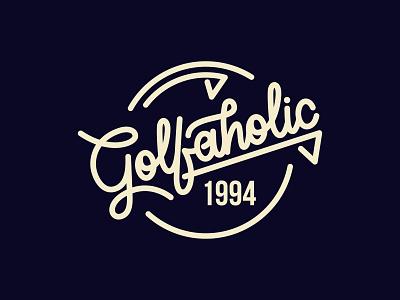 Golfaholic  - V3 t shirt retro sports logo golfing sports branding clothing typography lettering logo lettering artist mininal clean sport golfer golf logo logomark logo designer branding