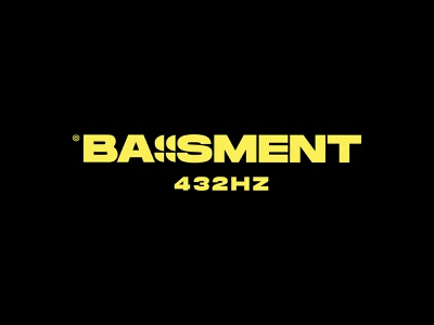 Bassment 432hz - #01 music logo drum and bass radiowaves music radio minimalist design clean simple logos typography logo logomark logo designer branding