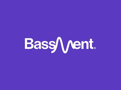 Bassment 432Hz #02 radio logo radio wave logotype music logo music bass typography logo logomark logo designer branding