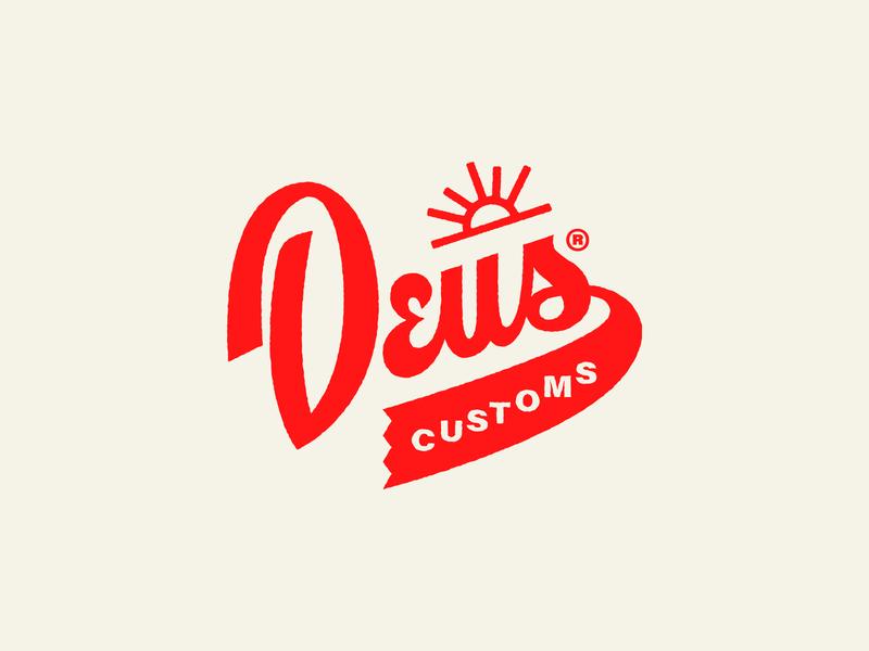 Deus Customs  - Logo Version #01 deus ex machina deus illustration apparel design clothng brand logo logomark logo designer branding