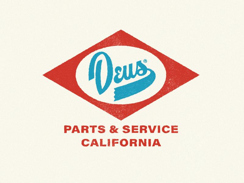 Deus Customs Badge badge logo logotype clothing brand deus ex machina deus texture vintage logo badge typography logo logomark logo designer branding