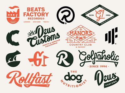 Logos 2020 typography logo brand marks brands logos music vintage cycling surf golf logo designer branding
