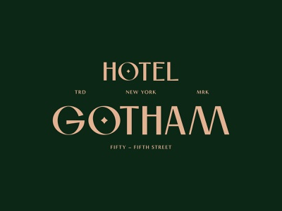 Hotel Gotham - Brand identity #02 hotel brand identity hotels luxury brand luxury hotel simple graphic design customtype hotel logo hotel booking hospitality logomark logo designer branding
