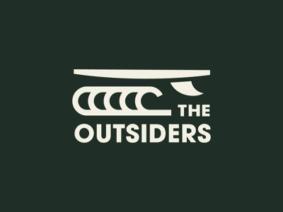 The Outsiders - Surf logomark simple outdoors brand clothing brand sports branding surfing sea wave icons surf logo designer branding
