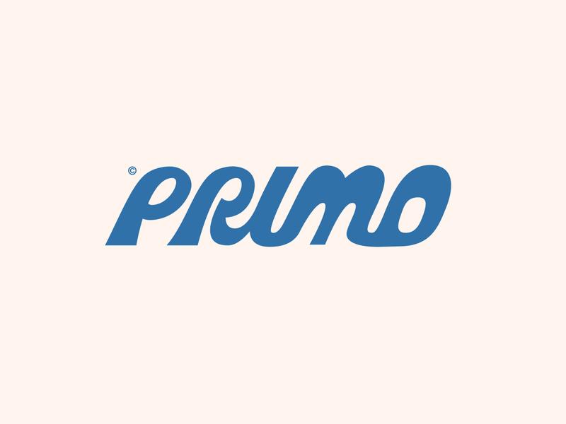Primo Skateboards - Logotype graphic design design clean simple lettermark logomark typography clothing brand sportswear skateboarding art lettering logo designer branding
