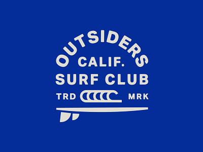 The Outsiders - Badge exploration badge typography logo logomark exploration badge design surfing logo designer branding