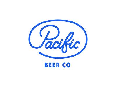 Pacific Beer Co - WIP typography logomark logo designer branding pacific beer beer brand beer blog beer logo logo