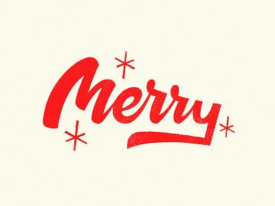 Merry Xmas - Lettering red logodesign logotypes logotype letteirng xmas christmas lettering christmas