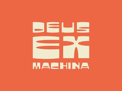 Deus Art - Custom type branding artdeco retro letters design logotype typography lettering art lettering