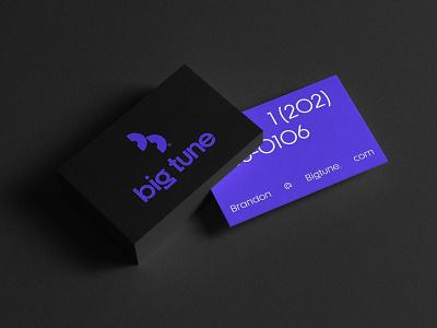 Big Tune - Business card designs mockup design typography logo business card design hiphip music records music management logomark logo designer branding business cards