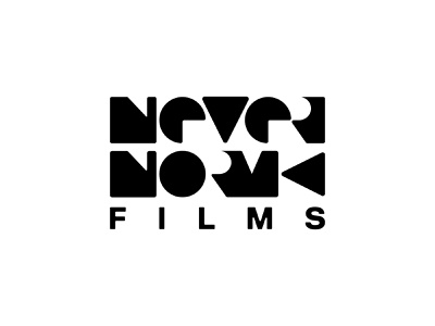 Never Norm Films - Logo Concepts cinema movie production negative space logotype logomark logo designer branding film production films