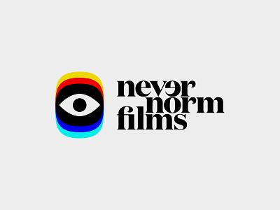Never Norm - Logos Rd2 graphic design simple logo designer branding logo typography logomark nevernorm movie logos film logo film festival movies film
