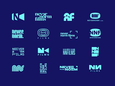 Never Norm - Logo collection graphic design logos crime movie classic logo retro films typography logomark logo designer branding