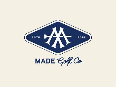 MADE Golf Co. Badge designs golf brand baseball typography logomark logo designer branding badge designs logotype golf