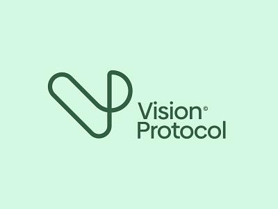 Vision Protocol logo - Version 1 marketing logomark identity logos logo typography type vp mark logo designer branding