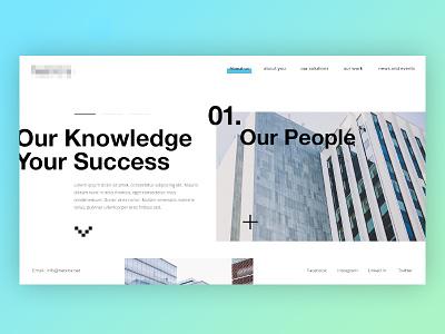 Webpage Concept off canvas graphic design creative layout ui ux web design