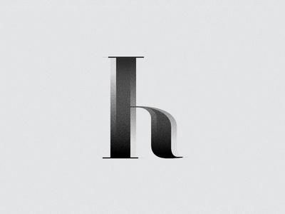 Letter H for 36 days of type