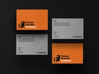 Business Card Mockup  - Brutalist style