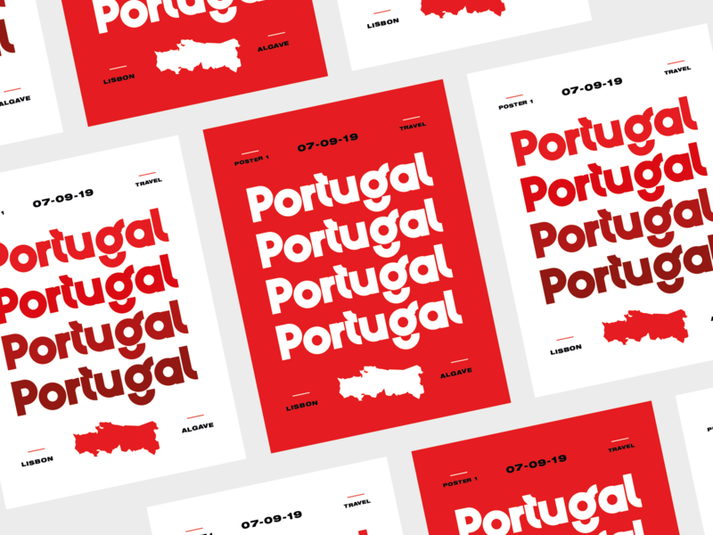 Typography Travel Posters 001 typedesign custom lettering travel customtype typeface portugal illustration typography branding
