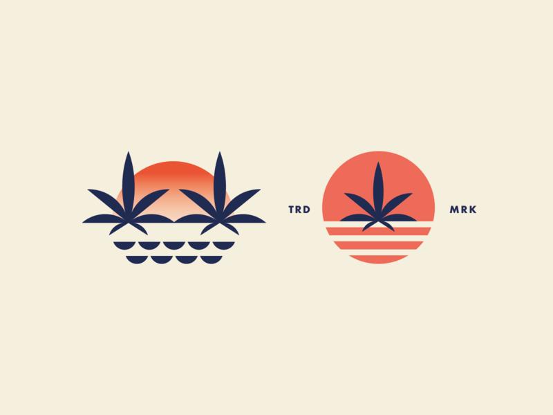Sunset Cbd Oil logos logo designer logo cannabis branding cannabis design cbd oil sunny logo icon logomark cannabis logo sunset sun
