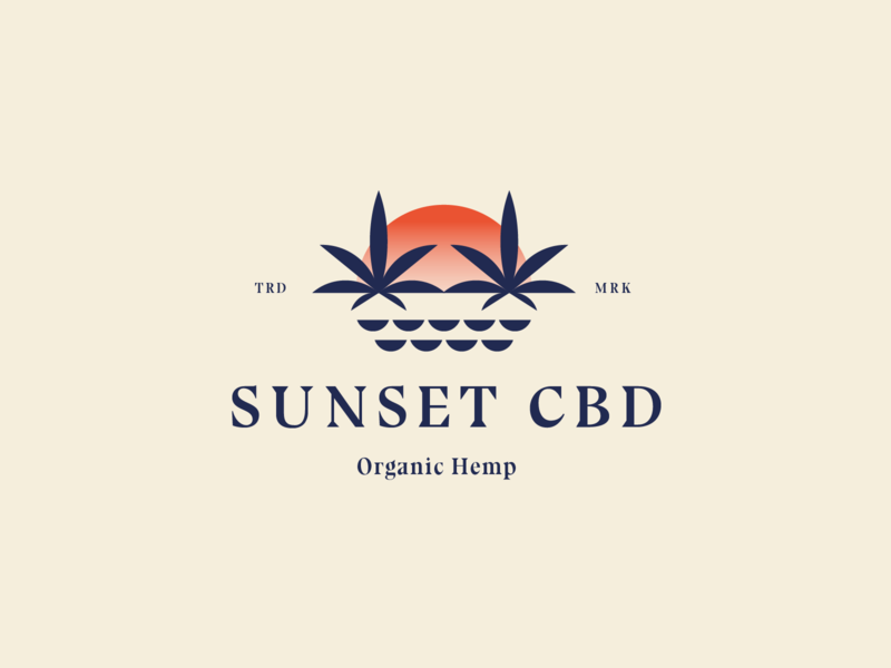 Sunset CBD Logos typography logomark logo designer branding cannabis branding sunset sunset logo cbd oil cbd cbd logo cannabis