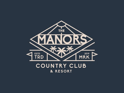 Manors Country Club - Badge Design V2