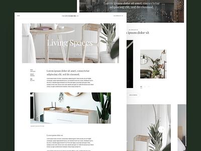 The Interior Co. Template Design V3 minimalist design modern agency interiors interiordesign figma template simple ui typography branding