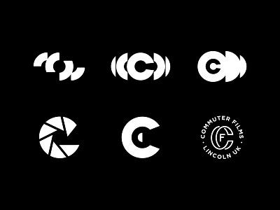 CommuterFilms© - Rejected Logos #001 letter c film logo lettering branding design symbol logotype brand identity logo typography logomark logo designer branding logosai logodesign logos film production