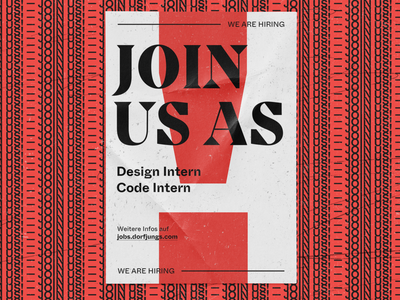WE ARE HIRING - Poster layout type visual design grid hiring typography print poster editorial art direction