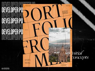 Developer Portfolio — Homepage Concept design displacement distortion typography portfolio grid folio developer