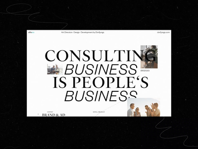 Editorial Inspired Consultancy Website — Case Study storytelling case study consultancy consulting corporate motion animation editorial portfolio art direction webdesign layout grid typography