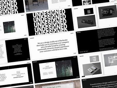 UNDESIGNED – IDENTITY & WEBSITE agency designstudio identity editorial art direction portfolio layout grid typography