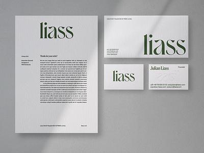 Liass – Sustainable pleasing furniture. Brand Identity. art nouveau corporate identity logo stationary carpentry identity design portfolio furniture sustainable corporate design branding