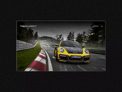 TECHART GTstreet R — Sportscar digital brand experience campaign page campaign micropage landing page animation digital experience automotive sportscar car storytelling brand experience