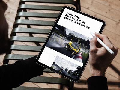 TECHART GTstreet R — Sportscar digital brand experience sportscar car automotive digital brand experience brand experience storytelling sound visualization sound