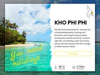 Travel App Overlay - UI Challenge #16