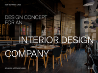 Interior Design Agency - Behance Case Study
