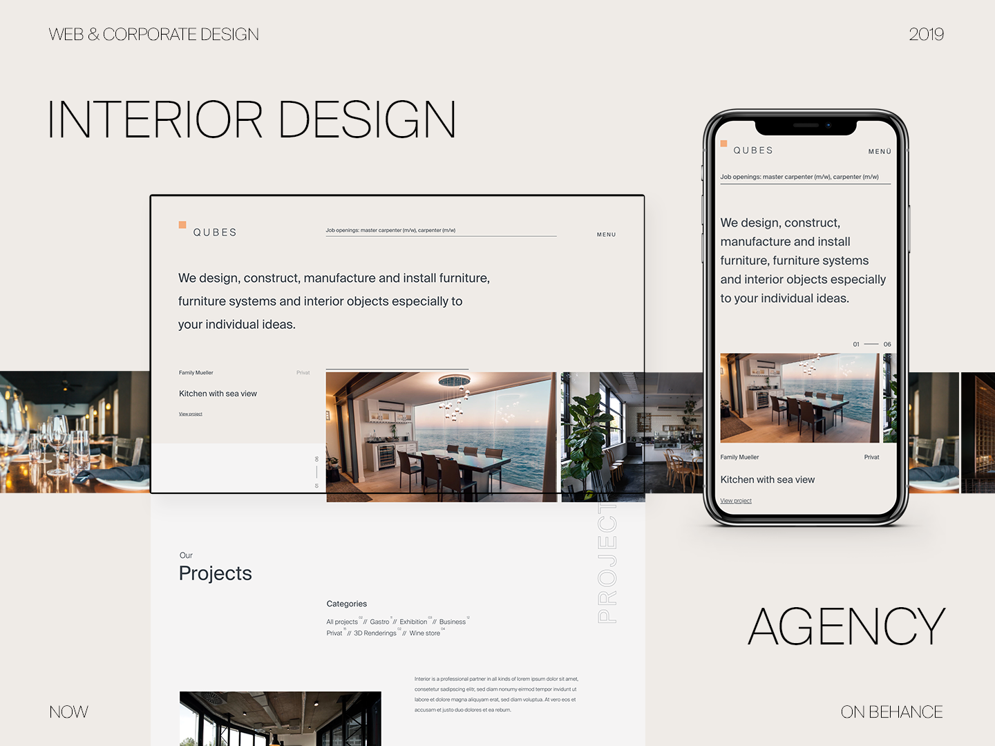 Interior Design Agency Portfolio Website By Norman Dubois For Dorfjungs On Dribbble