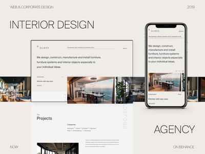 Interior Design Agency Portfolio Website projects slider homepage editorial clean minimalist portfolio art direction grid webdesign typography layout interior designer architecture furniture