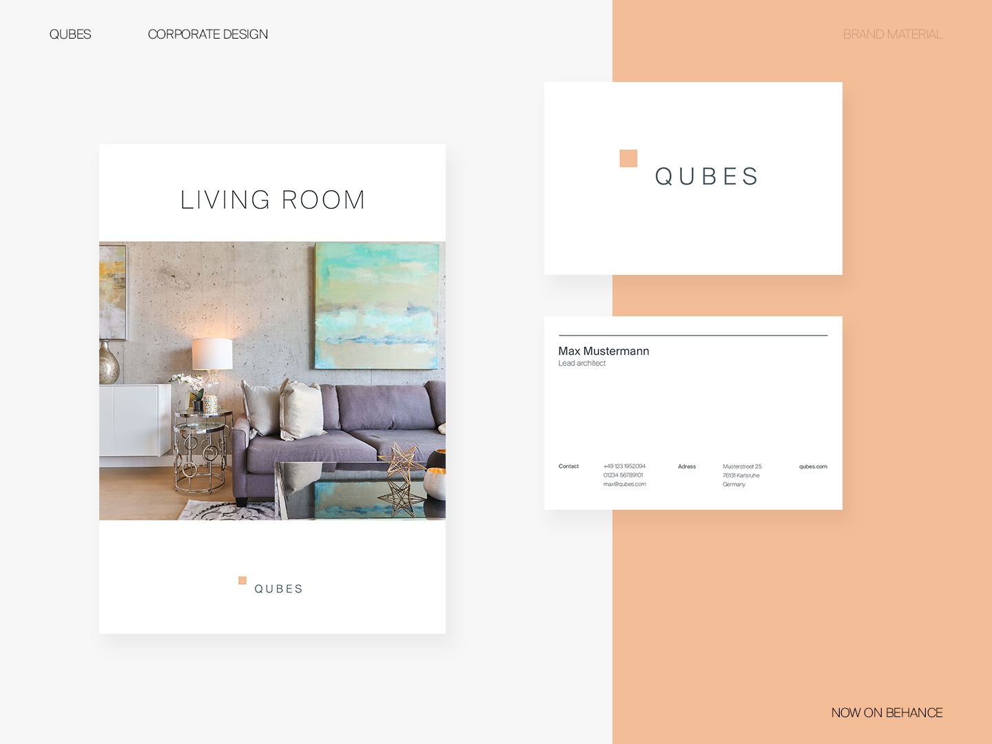 Interior Design Agency Brand Materials By Norman Dubois For Dorfjungs On Dribbble