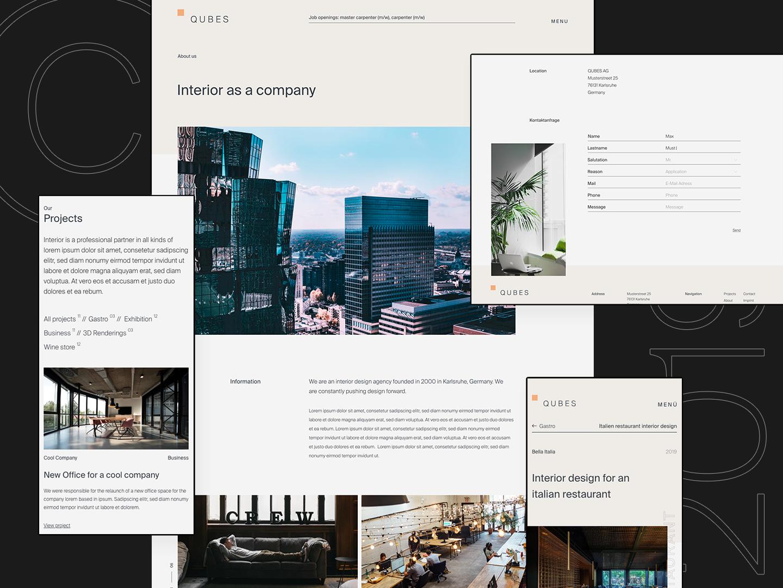 Interior Design Agency Portfolio Website by Norman Dubois