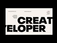 Developer Portfolio — Preloader
